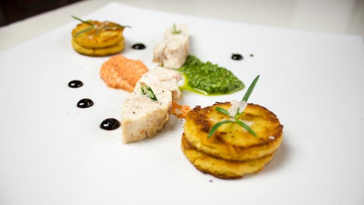Pollo Pesto und Polenta
