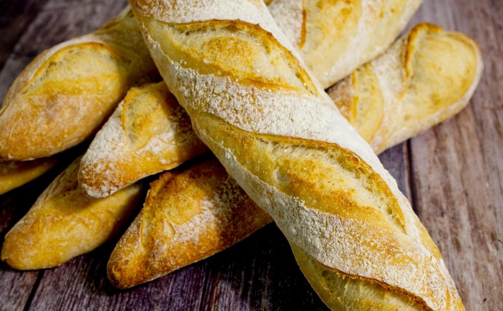 Französisches Baguette mit Sauerteig