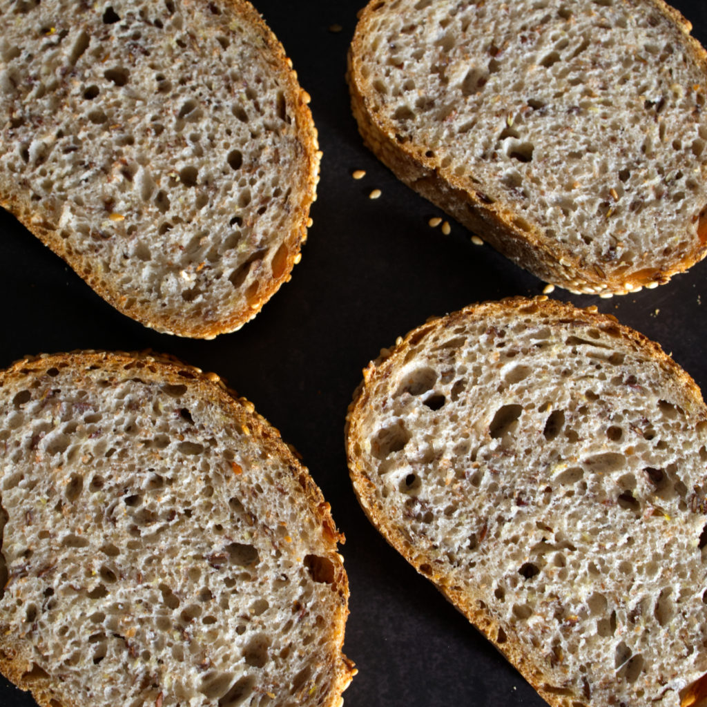 Sesam Leinsamen Brot
